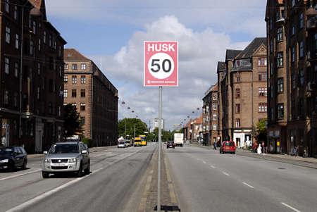 chilometro: COPENHAGEN  DANIMARCA _Remember limite di velocit� di traffico 509 km in citt� Demond da Copenhagn contea 18 Lug 2012