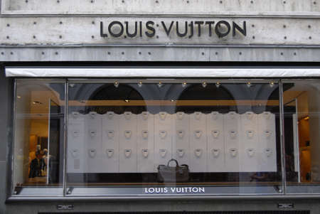 louis vuitton: COPENHAGENDENMARK _Louis Vuitton store on stroeget 20 July 2012