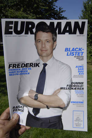 interviewed: COPENHAGENDENMARK _Crown prince Frederik on cover Euroman been interviewed  in magazine on news stand 27 July 2012