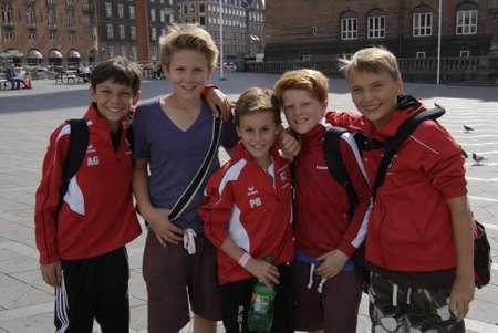 dean Pictures: COPENHAGENDENMARK _  German boys member of Ferman Walddorer SV Hamburg football visitng Copenhagen 30 July 2012         (Photo by  Francis Dean  Dean Pictures) Editorial