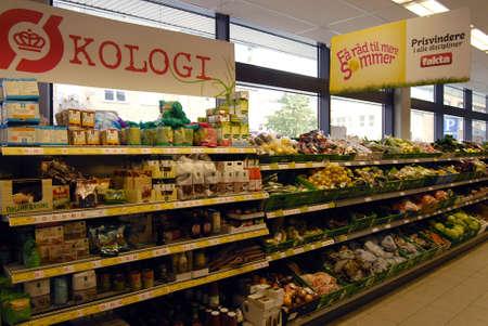 fakta: KASTRUPCOPENHAGENDENMARK _  Organis food at Fakta food super merket chain 5 August 2012