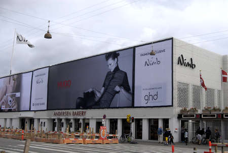 restuarant: COPENHAGENDENMARK _  Hugo billboard of fashion week at Nimb restuarant in tivoli 8 August 2012