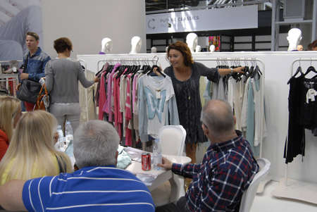 bella: COPENHAGENDENMARK _ Shoppers shopping  at Copenhagen Interntional Fashion Fair at Bella Center today 9 August 2012
