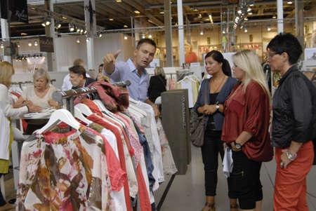 bella: COPENHAGENDENMARK _ Shoppers shopping  at Copenhagen Interntional Fashion Fair at Bella Center today 9 August 2012