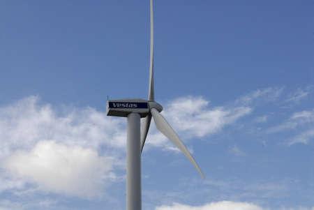 vestas: COPENHAGENDENMARK _Vestas windturbine  dane uses wind trubine engery been use energy at Bella Center  9 August 2012