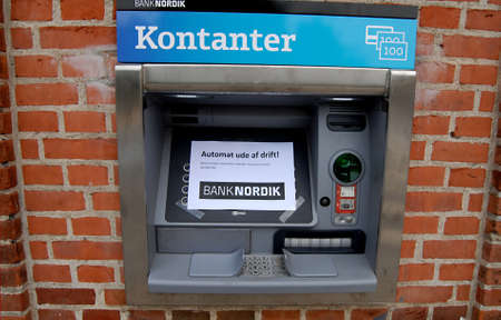 automate: COPENHAGENDENMARK _Cash automate out of oder at Kastrup branch at Banknordik today on 20 August 2012            Editorial