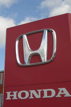 honda: KASTRUPCOPENHAGENDENMARK _   Honda car dealer in Kastrup Copenhagen 21 August 2012     Editorial