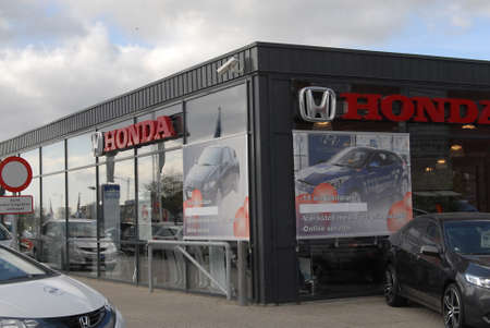 kastrup: KASTRUPCOPENHAGENDENMARK _   Honda car dealer in Kastrup Copenhagen 21 August 2012        Editorial