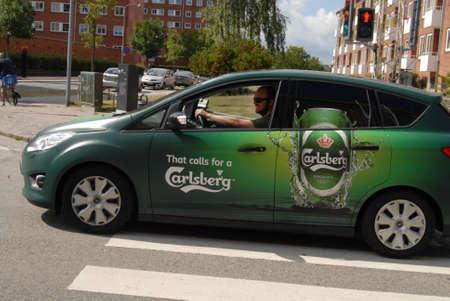carlsberg: COPENHAGENDENMARK _ Auto wi9th danish carlsberg beer commercial 22 August 2012