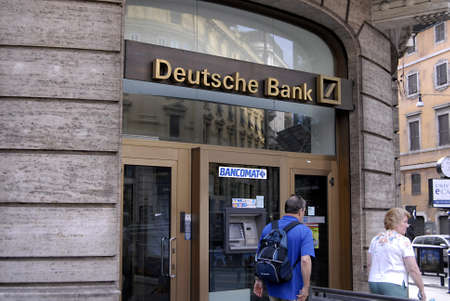 ROME  ITALY _ Geerman Deutsche bank in rome 1 Sept. 2012