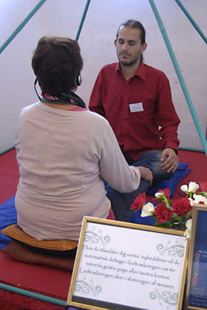 health fair: COPENHAGENDENMARK _ Public at health and spiritual fair in Osk�snehallen today on 30 Sept. 2012