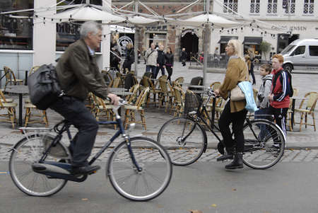 COPENHAGEN/DENMARK _ Cyclest in trafic in Copenhagen today on 4 October 2012        Stock Photo - 15583605