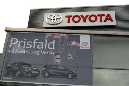 kastrup: COPENHAGENDENMARK _Japanese Toyota car dealer on englandsvey on Kastrup Amager 7 Oct. 2012        Editorial