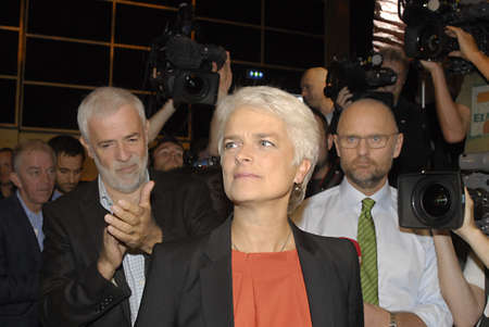 sf: COPENHAGENDENMARK _Ms.Annette Vihelmsen 52 years old  in red nd gr ey hair is newly elected SF danish socialist people party chairwoman iover 4.000 personal votes  by the SF socialist folke party ,she is also member of european union parliament  ,danish  Editorial