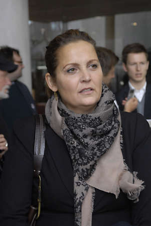 sf: COPENHAGENDENMARK _  Pia Olsen Dyre ,danish minister for trade at SF socialists folke party  convention today 13 Oct. 2012