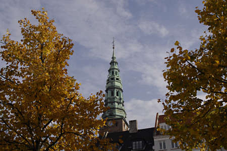 COPENHAGENDENMARK _  Spire of Nikalaj church now function as arts museum  20 Oct. 2012