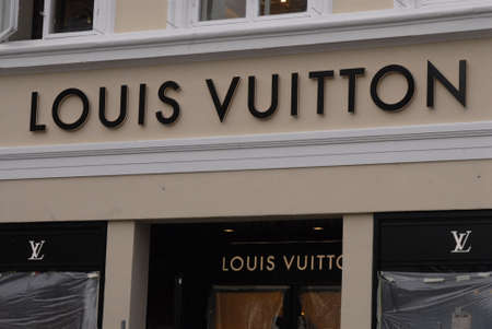 vuitton: COPENHAGENDENMARK _ Luxury item Louis Vuitton move to new location at Amager Torv pedestrain street 23 Oct. 2012