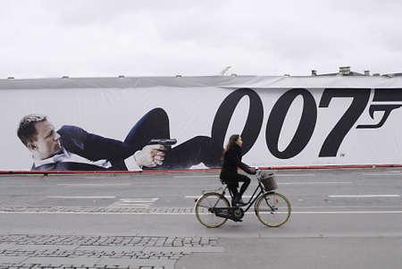 COPENHAGENDENMARK _ Billboard with James Bond 50 years Skyfall 007 at kongens nytorv 25 October 2012