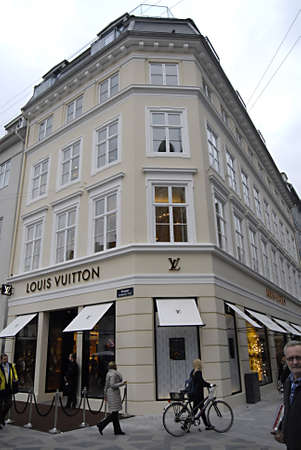 COPENHAGENDENMARK _ Luxury item Louis Vuitton move to new location at Amager Torv pedestrain street 24 Oct. 2012