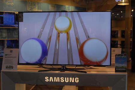 ediroial: Copenhagen  Denmark.  Samsung smart televsion at fona store 29 Oct. 2012         Editorial