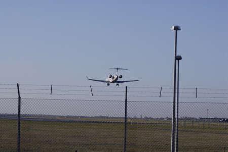 ediroial: Copenhagen  Denmark.Vueling com aeroplane landing ay Kastrup Copenhagen International airport run way tdoay 30  Oct. 2012