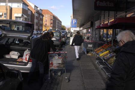 fakta: Copenhagen  Denmark.  Danish fakta food consumers at fkta food supoer market 30 Oct. 2012