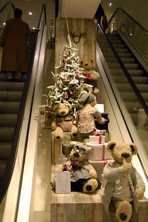 ediroial: Copenhagen  Denmark.   Early christmas decoration with christmas trees in various shop today 2 Nov. 2012        Editorial