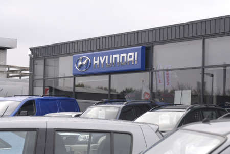 KASTRUP/COPENHAGEN/DENMARK _ Hyundai auto and Hyundai  car dealer  3 Nov. 2012        Stock Photo - 16093881