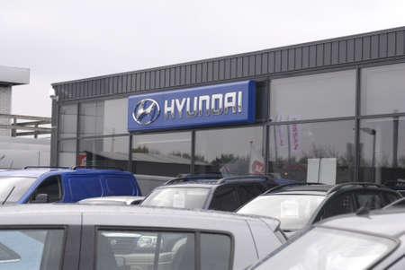 KASTRUP/COPENHAGEN/DENMARK _ Hyundai auto and Hyundai  car dealer  3 Nov. 2012        Stock Photo - 16093881