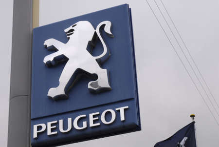 Copenhagen  Denmark. French auto Peugeot car and auto dealer 3 Nov. 2012         Editorial
