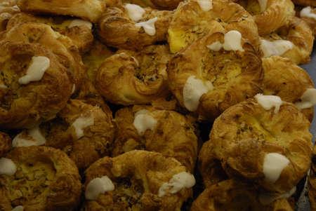 ediroial: Copenhagen   Denmark    Danish pastries and Strawberry cakes at sale at baker shop 2 Nov  2012