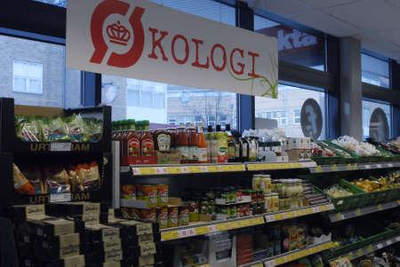 fakta: Copenhagen  Denmark. Fakta danish food chain stores sell organic food and vegetables 4  Nov. 2012          Editorial