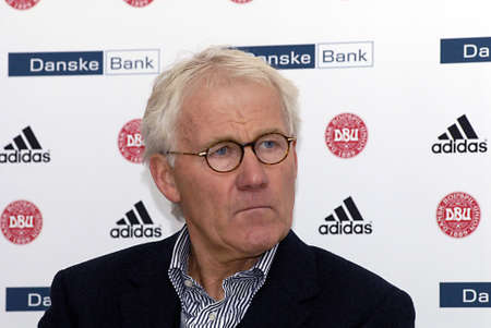 the national team: Copenhagen  Denmark. _Denmark national football team head couchtrainer Morten Olsen and U20 Footbal national team coach Morten Wieghorst hold joint press conference at Danish Football union house in brondby  Danish national A team Verse Turket match wil