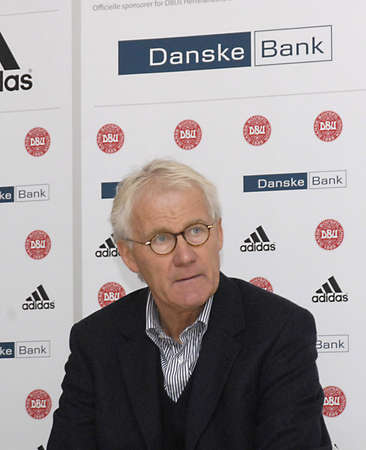 wil: Copenhagen  Denmark. _Denmark national football team head couchtrainer Morten Olsen and U20 Footbal national team coach Morten Wieghorst hold joint press conference at Danish Football union house in brondby  Danish national A team Verse Turket match wil