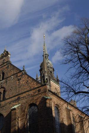 ediroial: Copenhagen  Denmark. Helligaarndkirke or Helligaands church  faith in denmark luthern faith is official of state church and luthern church on stroeget 6 Nov. 2012        Editorial