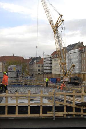 ediroial: Copenhagen  Danimarca. Metro Computer costruzioni ferroviarie di Gl.strand metropolitana dalla stazione ferroviaria 8 nov, 2012