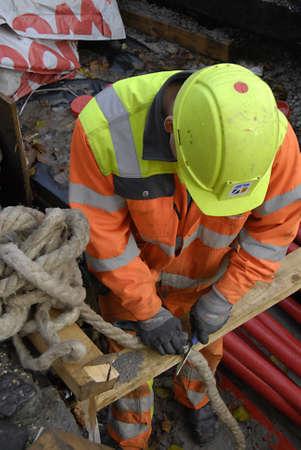 ediroial: Copenhagen  Danimarca. Lavoratore Costruzioni su ste 8 Novembre, 2012 Editoriali