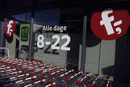 Copenhagen / Denmark.  Fakta super market sells organic food items and open from 8 -22 pm  all days 11 Nov. 2012          Stock Photo - 16286370