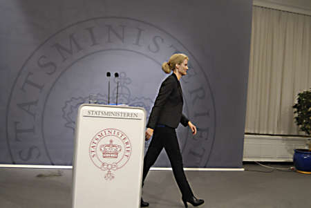 milion: Copenhagen  Denmark. Ms.Hell Thornins-Schmidt danish prime minister holds her weekly press conference  after three weeks south arian tour ,she accepts helping state finance to SAS crisis airline with milion of danish kroners and then while 9000 jobs SAS