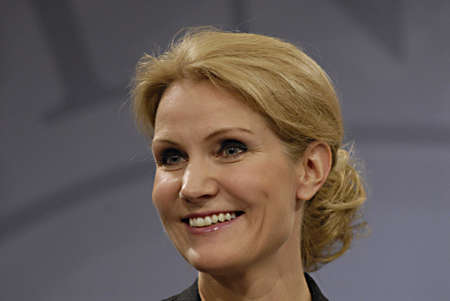 danish prime minister: Copenhagen  Denmark. Ms.Hell Thornins-Schmidt danish prime minister holds her weekly press conference  after three weeks south arian tour ,she accepts helping state finance to SAS crisis airline with milion of danish kroners and then while 9000 jobs SAS