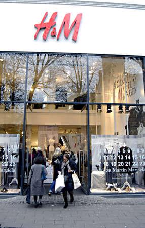 ediroial: Copenhagen  Denmark. _H&M start Maison Martin Margiela Paris collection on sale from today therefore consumers shopping Maison Martin Margiela Paris collection at H&M Hennes & Mauritz today 15 Nov. 2012          Editorial