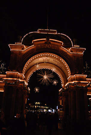 ediroial: Copenhagen  Denmark. This Russian style christmas and danish style at night in tilvoli garden  and russian christmas decorations has come to Tivoli Garden and now both Denmark and Russian showing together both christmas culture with with different christ