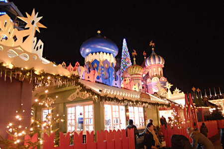 copenhagen denmark this russian style christmas and danish style at night in tilvoli garden