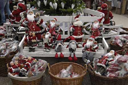 tradional: Copenhagen  Denmark. This Russian style christmas and russian christmas decorations has come to Tivoli Garden and now both Denmark and Russian showing together both christmas culture with with different christmas tradional things and deocrations like rus Editorial