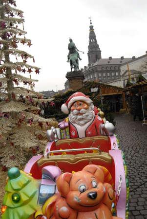 ediroial: Copenhagen  Denmark.    Christmas decorations for hristmas sale at Hojbro torv  christmas tree santa stars and hearts 22 Nov. 2012