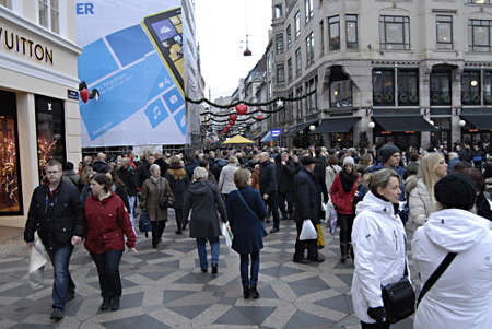 billions: Copenhagen  Denmark. Saturdays christmas shoppers and shopping centrs and christmas market danes shopping for billions kroners christmas presents and gifts even danish economy is financial crisis and people are losing jobs still danes are optimistic abou