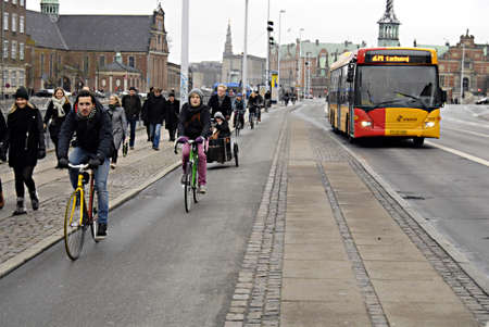 ediroial: Copenhagen  Denmark.  30 percent danesu se  bike or bicyce in daily life  to work or from work and transportto shopping and families and all danish cities have bike land for cyclists 24 No. 2012
