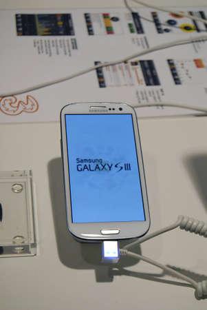 ediroial: Copenhagen  Denmark_Samsung galaxy note II and  tablet and smartphone display at phone  compnay 28 Nov. 2012