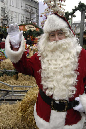 Copenhagen  Denmark.   Santa claus  at christmas market 29 Nov. 2012