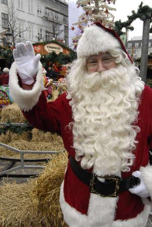 ediroial: Copenhagen  Denmark.   Santa claus  at christmas market 29 Nov. 2012